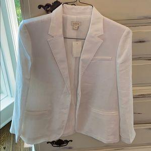 J. Crew brand new white blazer
